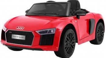 Masinuta electrica cu roti din cauciuc Audi R8 Spyder Red Masinute si vehicule pentru copii