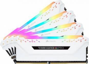 Memorie Corsair Vengeance RGB PRO White 32GB 4x8GB 3600MHz XMP 2.0 CL18 Memorii