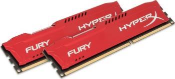 Kit Memorie HyperX Fury Red 8GB 2x4GB DDR3 1866 MHz