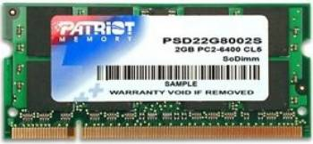 Memorie Laptop Patriot 2 GB 800 MHz DDR2 Non-ECC SODIMM Memorii Laptop