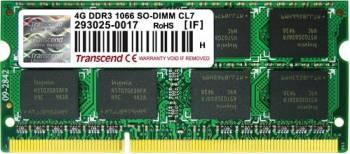 Memorie Laptop Transcend SODIMM Apple Series 4GB DDR3 1066MHz CL7