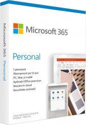 Microsoft 365 Personal, Romana, Subscriptie 1 an, 1 utilizator, Medialess Retail QQ2-01002