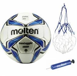 Minge fotbal Molten FIFA QUALITY PRO F5V4800 cusuta manual pompa si plasa Accesorii fitness