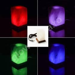 Mini Lampa de Sare cu USB Multicolor Prisma Corpuri de iluminat
