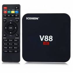 Mini PC Android TV Box SCISHION V88 + Telecomanda Miracast DLNA Airplay Rockchip 3229 Quad Core 1GB RAM 8GB ROM