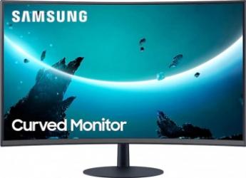 Monitor Curbat LED 23.6 Samsung LC24T550FDUXEN FullHD 75Hz 4ms DisplayPort FreeSync Negru