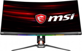 Monitor Gaming Curbat LED VA MSI 34 UltraWide QHD Display Port FreeSync 144Hz 1ms Negru Monitoare LCD LED