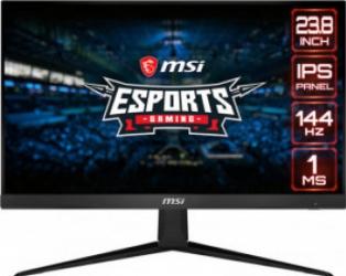 Monitor Gaming LED 23.8 MSI G241 FullHD IPS 144Hz 1ms Negru Monitoare LCD LED