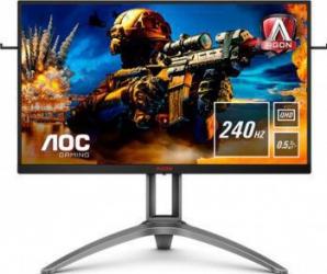 Monitor Gaming LED 27 AOC Agon 3 AG273QZ WQHD 240Hz 0.5ms FreeSync2 Negru-Rosu