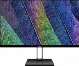 Monitor LED 24 AOC UltraSlim 24V2Q Full HD IPS FreeSync 75Hz Black Monitoare LCD LED