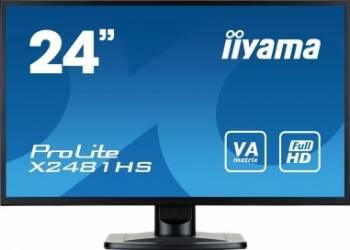 Monitor LED 23.6 Iiyama Prolite X2481HS-B1 Full HD 6ms Negru Monitoare LCD LED