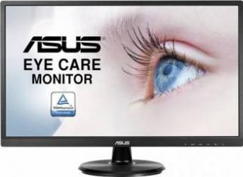 Monitor LED 23.8 ASUS VA249HE Full HD 5ms HDMI Eye Care Flicker Free Anti Glare Monitoare LCD LED