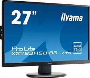 Monitor LED 27 Iiyama ProLite X2783HSU-B3 Full HD 4ms Monitoare LCD LED