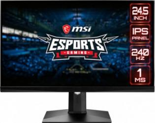 Monitor Gaming LED 24.5 MSI OPTIX MAG251RX IPS FullHD 1ms 240Hz Negru