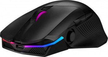 Mouse gaming wireless ASUS ROG Chakram RGB switch-uri Omron 16000 dpi incarcare Qi iluminare Aura Sync