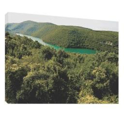 Munte si lac 2 - Tablou canvas - 52x70 cm Tablouri