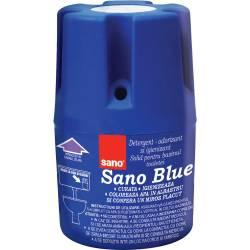 Odorizant solid Sano pentru rezervorul toaletei Albastru 150g