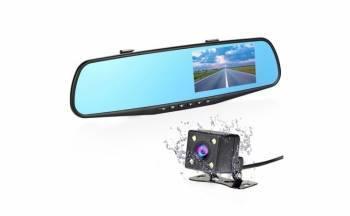 Oglinda retrovizoare cu camera fata-spate ecran 4 3 inch night vision Camere Video Auto