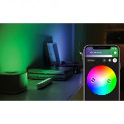 Pachet 2 lampi LED integrat Philips HUE Play 530 lm A+ ambianta alba si color 25.3 cm Alb Corpuri de iluminat