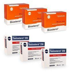 Pachet Megabol Biosterol 3 buc plus Testosterol 3 buc stimulare testosteron si hormon de crestere inhibare estrogen