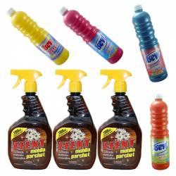 Pachet - 3 x Efekt Mobila si Parchet 1L Detergent profesional cu ceara Solutie antistatica cu pulverizator 3 x 1000ml +