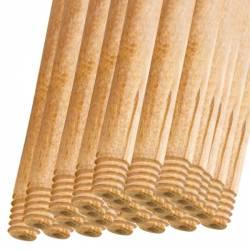Pachet 25 bucati - Coada din lemn natur Cu filet Pentru matura Mop 120cm