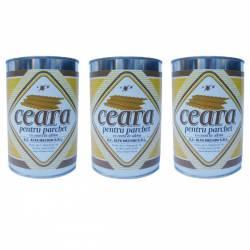 Pachet 3 bucati - Ceara parchet incolora solida 1kg Ceara pentru lustruire pardoseli din lemn la cutie