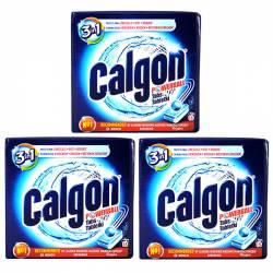 Pachet 3 cutii - Calgon Powerball anti-calcar tablete pentru masina de spalat 15 tabletecutie 195g