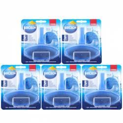 Pachet 5 bucati - SanoBon Fresh Scent Toilet Rim Block Odorizant pentru agatat in vasul de wc 5 x 55g