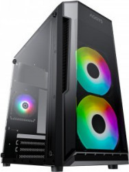 PC Gaming Diaxxa Light AMD Ryzen 5 1600 3.2GHz 1TB HDD+SSD 240GB 8GB DDR4 GTX 1050 Ti 4GB Calculatoare Desktop
