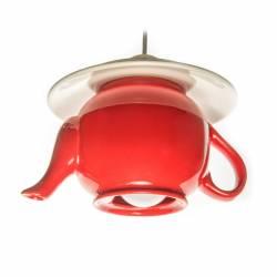 Pendul Happy tea pot E27 1x60W ceainic + farfurie ceramica rosu Corpuri de iluminat