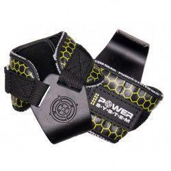 Pereche chingi cu carlig metalic pentru sala de fitness POWER HOOKS PS-3360 marime L galben