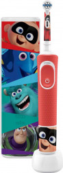 Periuta de dinti electrica pentru copii Oral B Vitality D100 Kids Pixar 7600 oscilatii/min Curatare 2D Trusa de calatorie Rosu Periute electrice si dus bucal