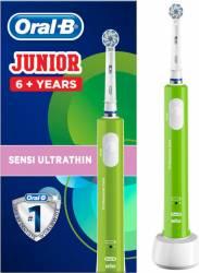 Periuta electrica Oral B Junior Green 81687267 1 x capat de periaj incarcator standard Verde Periute electrice si dus bucal