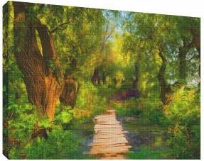 Pictura in ulei 9 - Tablou canvas - 52x70 cm Tablouri
