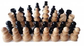 Piese de sah din lemn mare lacuite rege 11 cm inaltime negru Jocuri de Societate