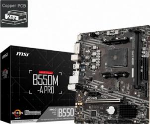 Placa de baza MSI B550M-A PRO Socket AM4 2xDDR4 pana la 32GB mATX