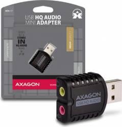 Placa de sunet AXAGON USB2.0 Stereo Mini Adapter 24bit 96kHz