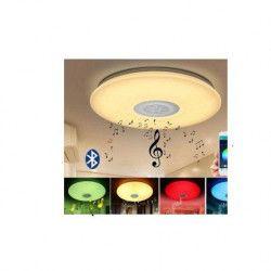 Plafoniera LED 24W cu difuzor bluetooth cu aplicatie de pe telefon si telecomanda 2200lm Corpuri de iluminat