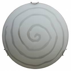 Plafoniera din sticla Model spirala Alba 40cm Corpuri de iluminat