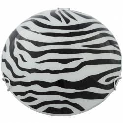 Plafoniera din sticla Model zebra Alba 25cm Corpuri de iluminat