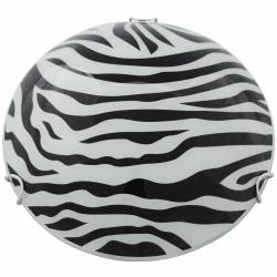 Plafoniera din sticla Model zebra Alba 40cm Corpuri de iluminat