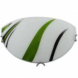 Plafoniera jumatate din sticla Model artistic-verde Alba Corpuri de iluminat