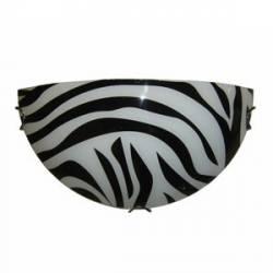Plafoniera jumatate din sticla Model zebra Alba Corpuri de iluminat