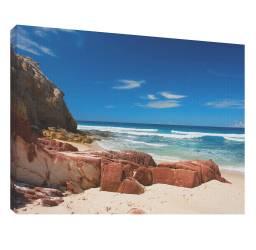 Plaja cu pietre 1 - Tablou canvas - 52x70 cm Tablouri