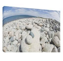 Plaja cu pietre 3 - Tablou canvas - 52x70 cm Tablouri