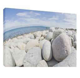 Plaja cu pietre 7 - Tablou canvas - 52x70 cm Tablouri