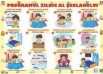 Plansa Programul zilnic al scolarului Carti