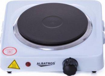 Plita electrica Albatros AP10W 1 arzator 1000W LED de functionare Protectie la supraincalzire Alb