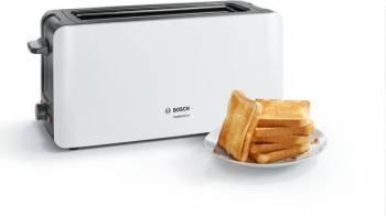 Prajitor de paine Bosch TAT6A001 long slot 1090W 2 felii de paine Alb Prajitoare